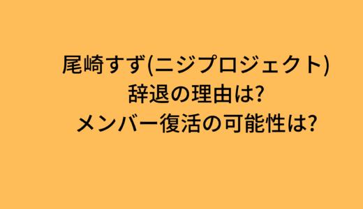 尾崎すず(ニジプロジェクト)辞退の理由は?メンバー復活の可能性は?