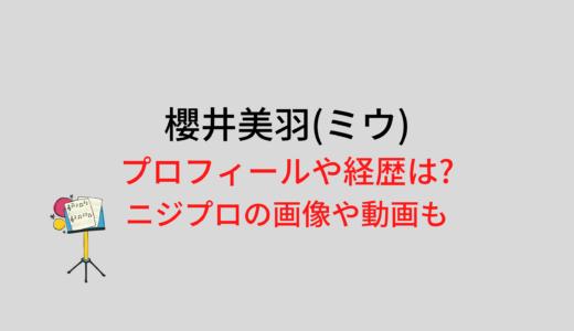 櫻井美羽(ミウ)のプロフィールや経歴は?ニジプロの画像や動画も