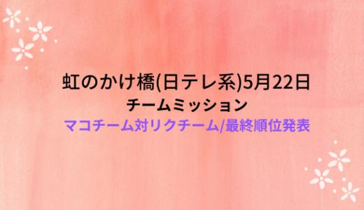 虹のかけ橋(5月22日)!リクチーム対マコチームと最終順位発表!