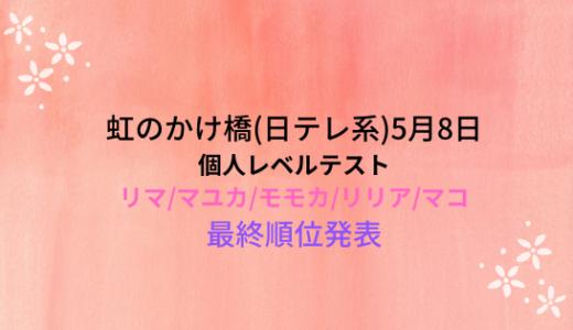 虹のかけ橋(5月8日)!リマ/マユカ/モモカ/リリア/マコのレベルテストと最終順位