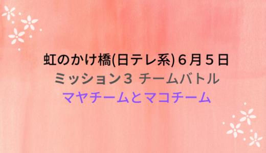 虹のかけ橋(6月5日)チームバトル!マヤチームやマコチームの評価は?