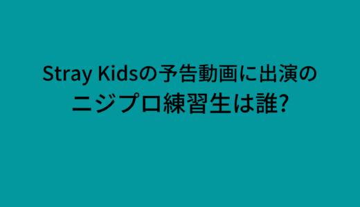 Stray Kidsカムバック映像に出演したニジプロ練習生は誰?画像や動画チェック!